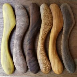 Couteaux à beurre en bois de Fabien Haurat - Photo©GARANCE CASSIEN