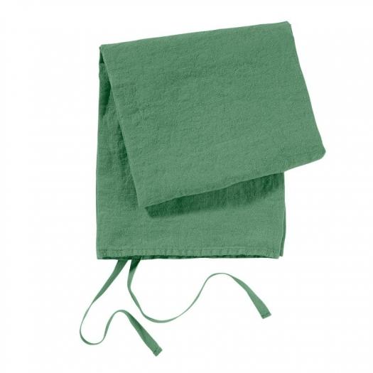 Le torchon en lin lavé - Vert Emeraude - Linge Particulier - Photo ©Linge Particulier