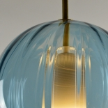 Suspension Globe - Collection Moire - Bleu Océan - Atelier George - Photo ©Atelier George
