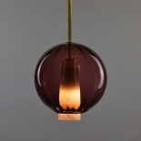 Suspension Globe - Collection Moire - Brun Violet - Atelier George - Photo ©Atelier George