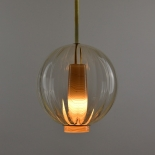Suspension Globe - Collection Moire - Jaune Pale - Atelier George - Photo ©Atelier George