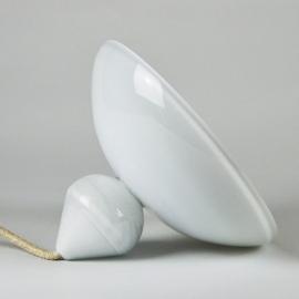 La lampe à poser Ellipse - Collection Moire - Blanc - Atelier George - Photo ©Atelier George
