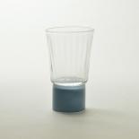 Le verre - Collection Moire - Bleu gris - Atelier George - Photo ©Atelier George