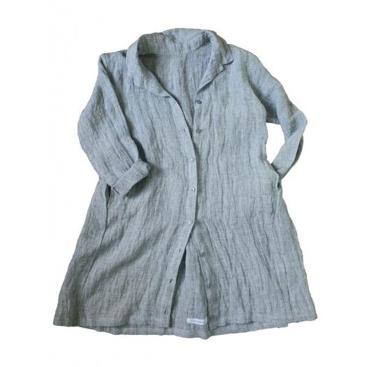 Robe-chemise en lin froissé - le Vestiaire de Jeanne - Photo ©GARANCE CASSIEN
