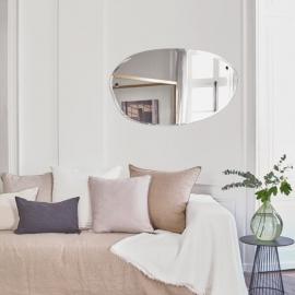Miroir extra plat formes irrégulières et aléatoires - Ovale horizontal - 100x60 cm - M Nuance - Photo © M Nuance