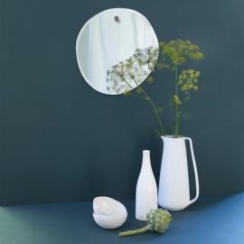 Miroir extra plat forme irrégulière et aléatoire - Naturel - Rond - 32x33cm aléatoires - M Nuance - Photo © M Nuance