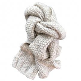 """Echarpe en pure laine fait main """"Craie"""" -  © GARANCE CASSIEN"""