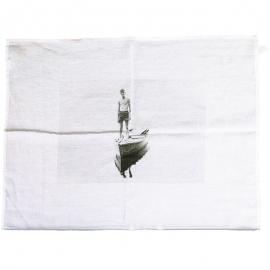 La Barque - Torchon en lin blanc - Série Limitée Louise - Photo © GARANCE CASSIEN