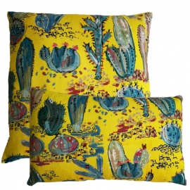 Coussin Cancun Jaune - Lalie Design - Photo ©GARANCE CASSIEN
