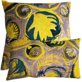 """Le coussin """"COPACABANA"""" jaune - Lalie Design - Photo ©GARANCE CASSIEN"""
