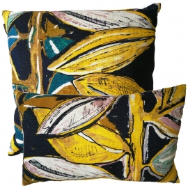 Coussin exubérance moutarde - Lalie Design - Photo ©GARANCE CASSIEN