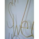 Home Sweet Home - Mot de décoration murale en métal doré -  Zoé Rumeau - Photo © GARANCE CASSIEN