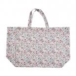 Le sac cabas en lin lavé Fleuri rose Linge Particulier - Photo © Linge Particulier