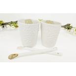 Duo de tasses et cuillères en porcelaine - Myriam Aït Amar - Photo ©GARANCE CASSIEN