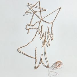 Fée dorée & guirlande de lumière cuivre - led - Zoé Rumeau - Photo © GARANCE CASSIEN