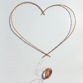 Coeur doré & guirlande de lumière cuivre - led - Zoé Rumeau - Photo © GARANCE CASSIEN